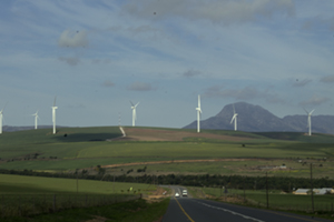 Windmills near Caledon, Overberg district, Western Cape